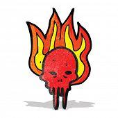 stock photo of grossed out  - gross halloween skull cartoon - JPG