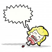 picture of grossed out  - gross severed head cartoon - JPG