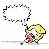 picture of gross  - gross severed head cartoon - JPG