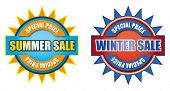 picture of waste reduction  - Summer and winter special price sales sign - JPG