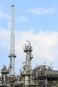 stock photo of refinery  - industrial of Oil Refinery Plant on blue sky - JPG