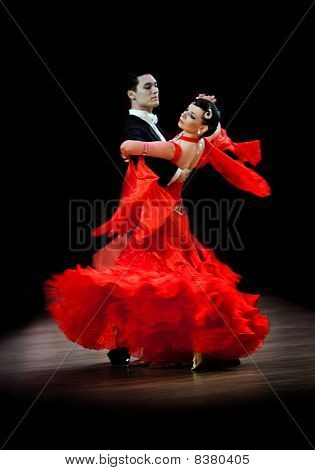 Couple At Dancing Pose