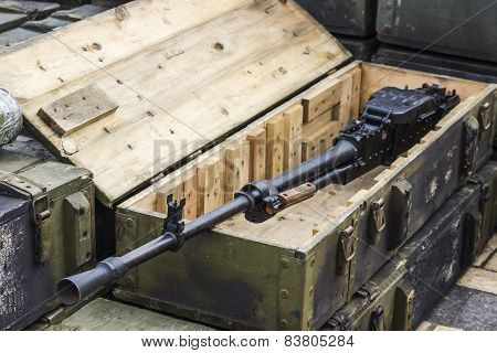 February 23, 2015, Kiev, Ukraine, Russian Heavy Machine Gun