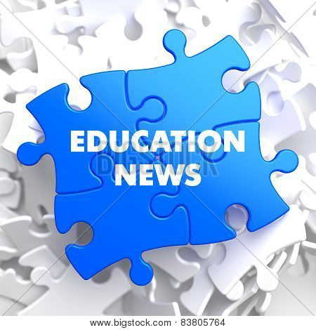 Education News on Blue Puzzle.