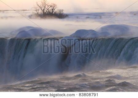 Niagara Falls on Winter Dawn