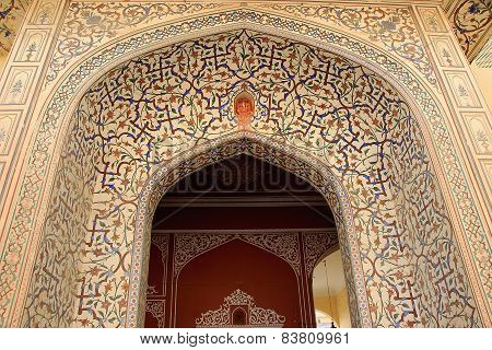 Elaborately Painted Entrance