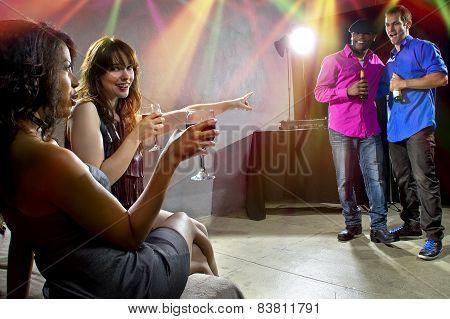 Enjoying Drinks at Nightclub