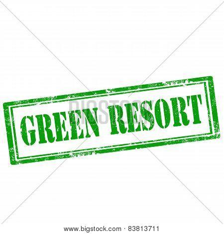 Green Resort-stamp