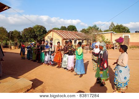 The Preparation Of Songs And Dances For The Sunday Mass In The Village Of Pomerini In Tanzania