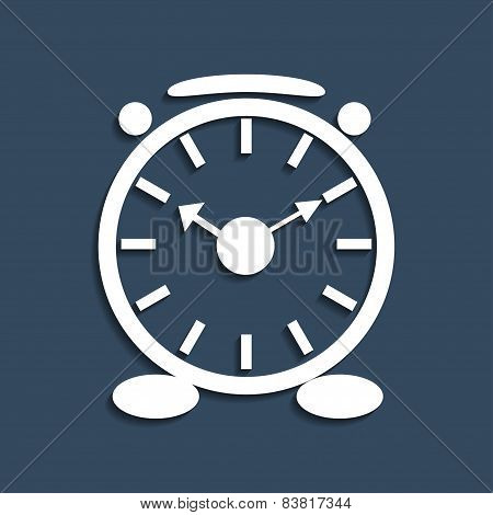 Alarm Clock Icon. Vector