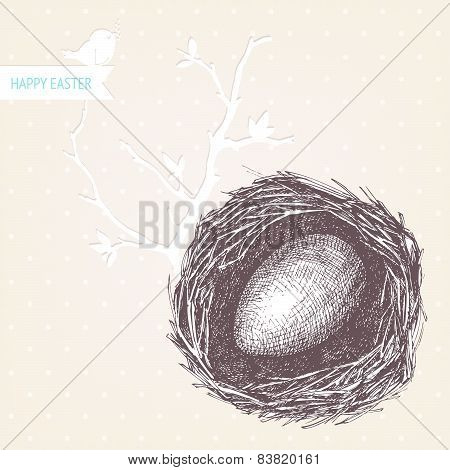 Easter card or invitation design