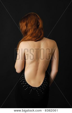 Female Back In The Dark