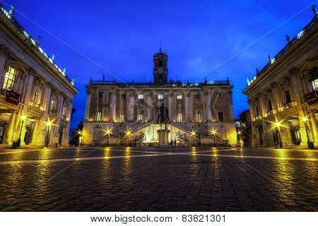 Capitoline Museum At Night