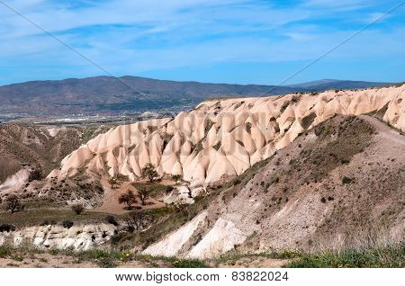 Picturesque views of the Pidgeon Valley, Cappadocia, Turkey