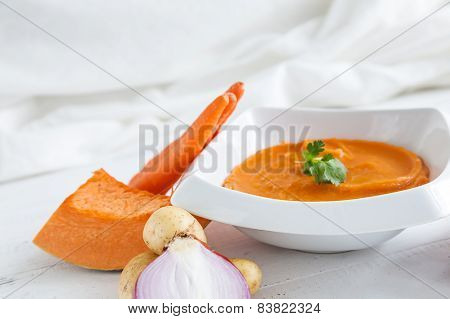 Mashed Potatoes With Onions Carrots And Pumpkin