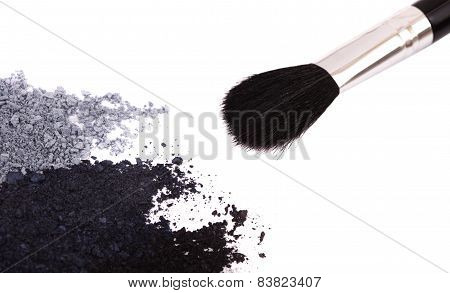 Powder Eyeshadow Makeup And Brush