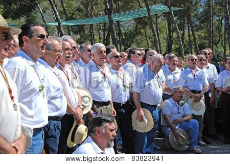 Spanish male choir, Marbella.