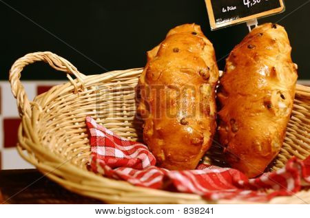 Tw Brioches In A Basket