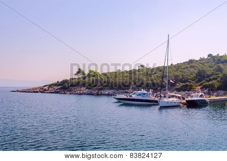 Pleasure Boats At The Kassandra Peninsula, Greece