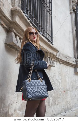 People Outside Anteprima Fashion Show Building For Milan Women's Fashion Week 2015