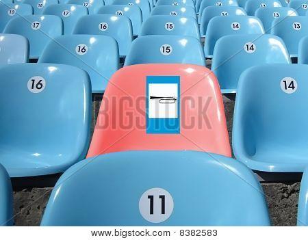 Rows Of Seats At Stadium.