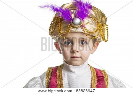 Sultan Child On White.