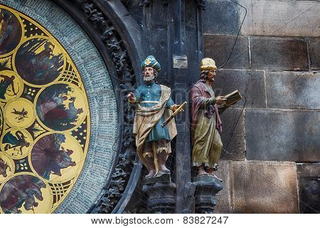 Fragment Of Clock In Prague
