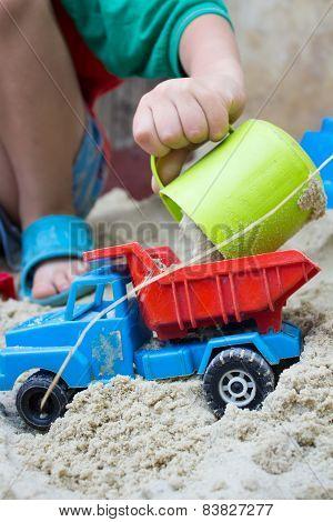 Sand For Children's Car