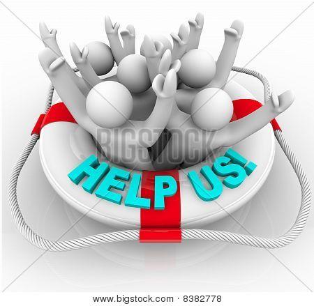 Help Us - People In Life Preserver