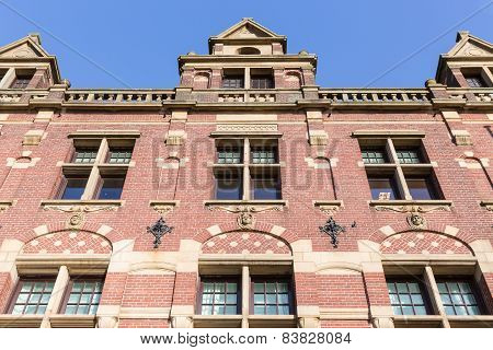 Facade Old Dutch Brick Stone Manion Of The Hague