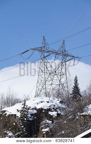 Gotthard Massif - Power Poles