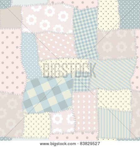 Seamless patchwork pattern.