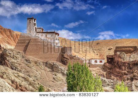 Ruins At Basgo Monastery, Leh, Ladakh, Jammu And Kahsmir, India
