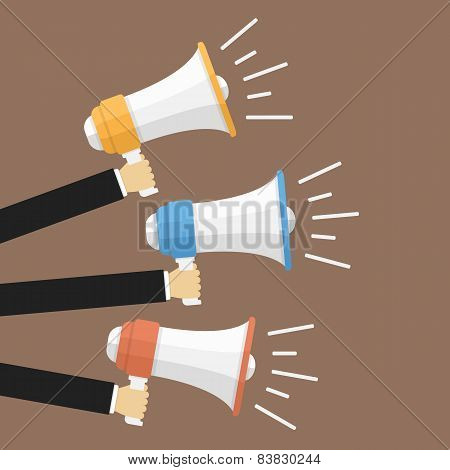 Hands With Megaphones
