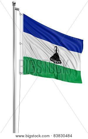 3D flag of Lesotho