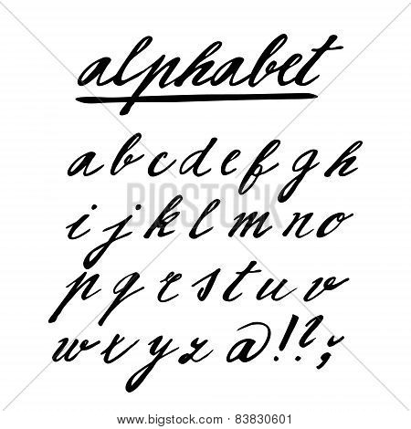 Hand Drawn Vector Alphabet, Font, Isolated Letters