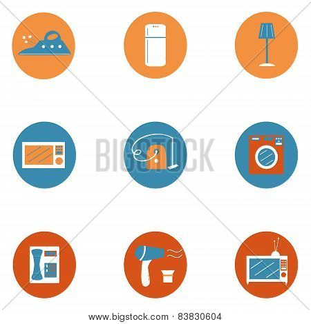 House supplies icons