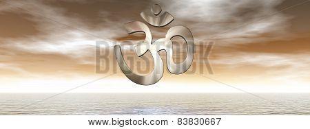 Aum symbol - 3D render
