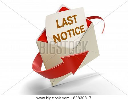 Letter Last notice (clipping path included)