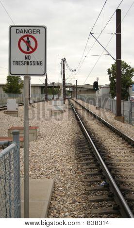 danger no trespassing railway