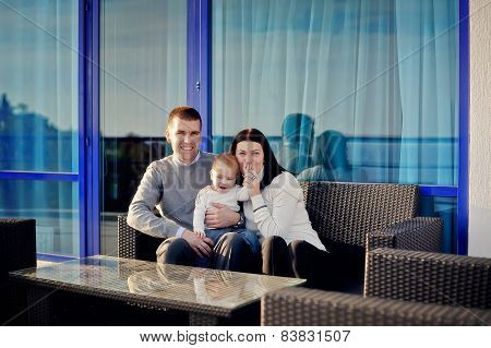 family with young son