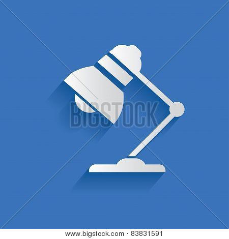 Lamp symbol ,clean vector
