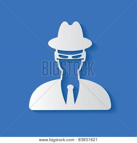 Spy symbol,clean vector