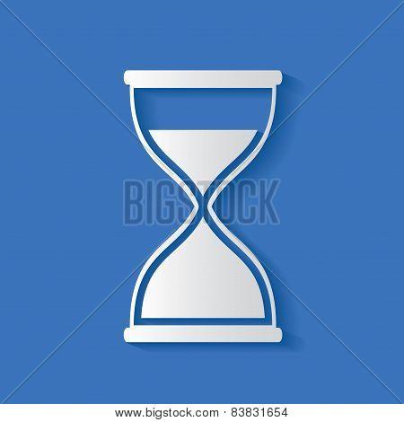 Hourglass symbol,clean vector