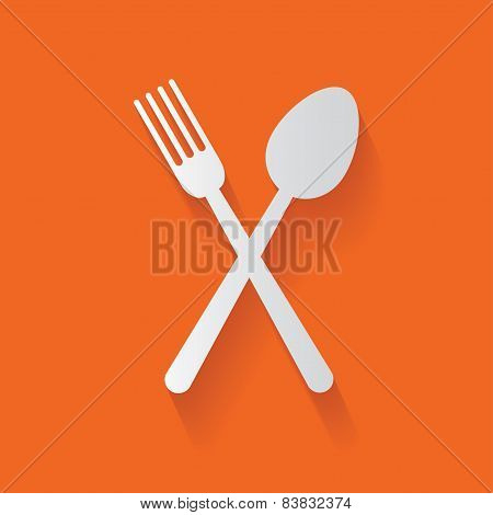 Spoon symbol,clean vector
