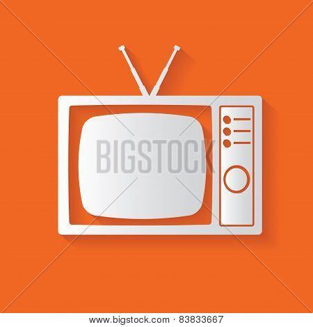 TV symbol,vector