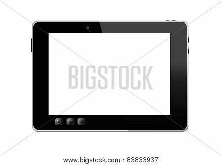 Black Tablet Isolated On The White