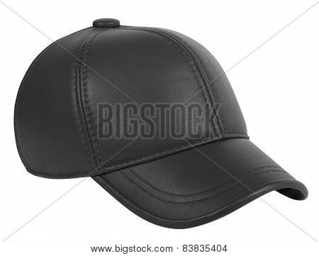 Baseball Cap Made Of Artificial Leather