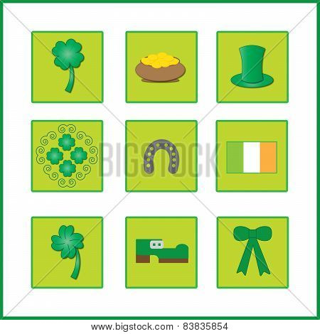 colorful background with ireland flag