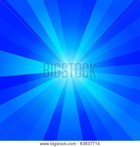 Cold blue tones abstract radiant background